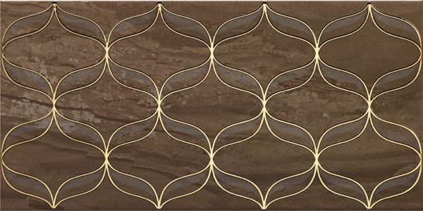 Vitra Ethereal Gold Geometric Decor Soft Brown Glossy Декор для стен