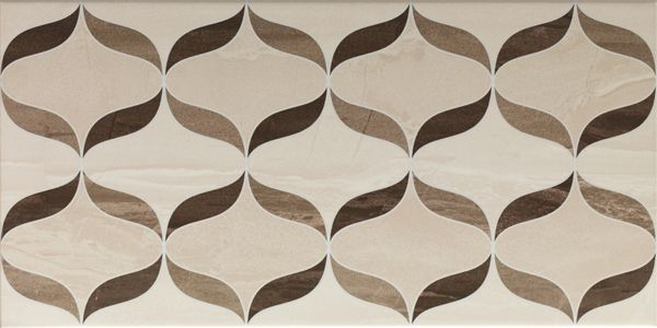 Vitra Ethereal Brown-L.Beige Geometric Decor Mix Glossy Декор для стен