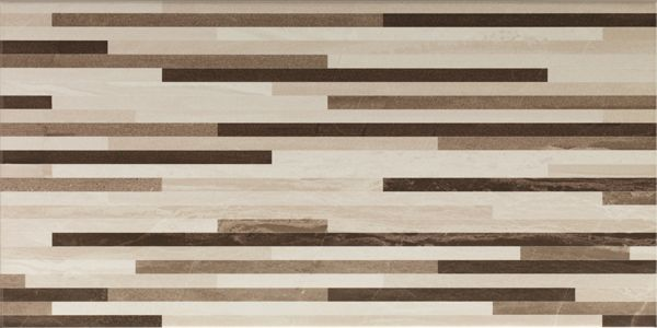 Vitra Ethereal Brown-L.Beige Geometric Lines Decor Mix Glossy Декор для стен